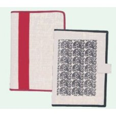 GOD'S GRACE 2D Ring Jute Conference Folder with 10 Thick Leaves, CFJ-1384