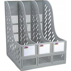 Worldone 3 Compartments File Rack, WPS333