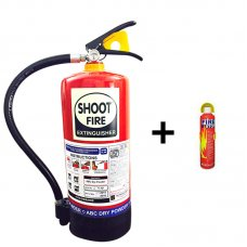 Shoot Fire Portable Fire Extinguisher for Car & Home Worth Rs. 150 Free with Shoot Fire Powder ABC Fire Extinguisher 6 Kg