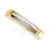 SmartShophar Brass Plate Handle Gold Silver 8 Inches Daisy
