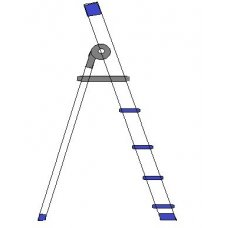 A TO Z 4 Step Aluminium Domestic Ladder, 003-D04