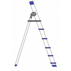 A TO Z 5 Step Aluminium Domestic Ladder , 003-D05