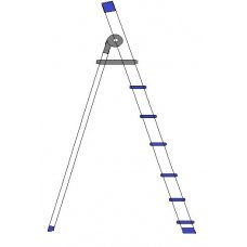 A TO Z 6 Step Aluminium Domestic Ladder, 003-D06