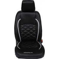 Mambo Leather Car Seat Cover black With Blanky Design, SC830255