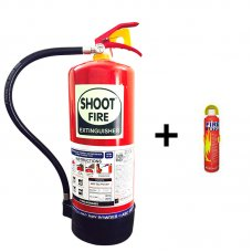Shoot Fire Portable Fire Extinguisher for Car & Home Worth Rs. 150 Free with Shoot Fire Powder ABC Fire Extinguisher 9 Kg