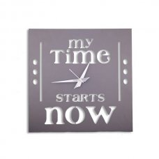 Laser Venue Square Shaped Designer Wall Clock (My Time Starts Now ), TL14016