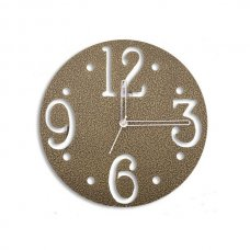 Laser Venue Round Shaped Brass Finish Small Size Designer Wall Clock, TL14021