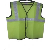 Life Safety Reflective Mesh Green Color Safety Jacket With 2 Inch Reflective Tape, LSS-04