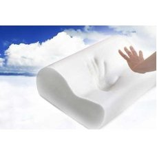 Qubeplex White Memory Foam Pillow With Zip Cover