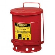 JUSTRITE Oil Waste Can, Red