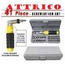 Attrico Screwdriver Socket Tool Kit-42 Piece