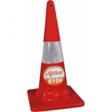 Aktion Combo Of 4 Parking Cone with 20 mtrs K Type Chain, AK 801