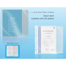 Solo Sheet Protector (Easyload), SP 501, Color: Frosted (Pack of 100)
