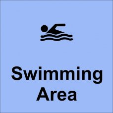 Acme Swimming Area Sign