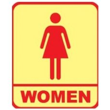 Aktion Sign Of Lady Toilet