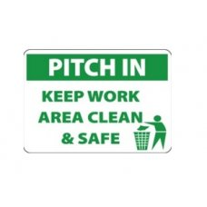 Aktion Sign Of Keep Work Area Clean