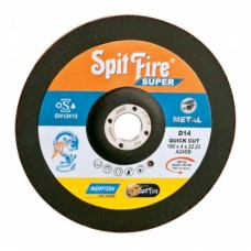 Norton SPITFIRE Super Quick Cut DC Discs,D24, 125 X 5 X 22.23 mm