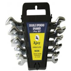 Ajay Double Ended Open Jaw Spanners 5 Pieces Set A-100 in Box (AJSP/5L)