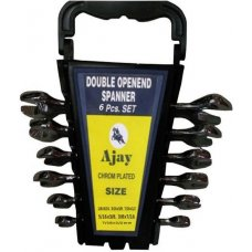 Ajay Double Ended Open Jaw Spanners 6 Pieces Set A-100 in Rack (AJSP/6A)