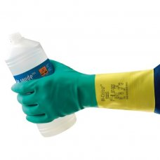 Ansell Bi-color Latex/Neoprene Gloves, Size: 13 inch, HNPAN-87-9009