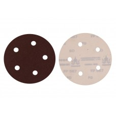 Cumi Alo Resin Paper Velcro Disc-FP567, 125 Mm, FP567060125008, 8 Holes, Grit: 40