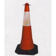 7M Traffic Two Part Cone, Red, 7M-TC-04