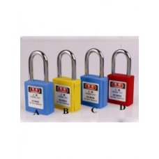 Ladwa Padlock With Steel Shackle Lockout, LSSLPDLS+FCR+IS