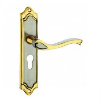 Dorset Silver Satin Lock Combo Set With Mortise Latch, HL VN