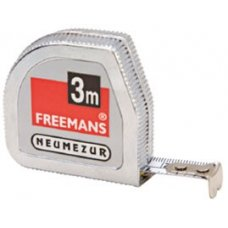 Freemans NEUMEZUR 3 meter Steel Tape Rules Die Cast Chrome Plated
