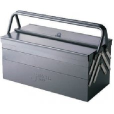 JE TECH Tool 420 mm Zinc Phosphating Steel SPCC Portable Tool Box With 5 Tipping Drawers, TB-18