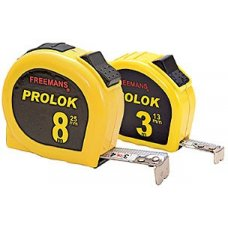 Freemans PROLOK 5 meter Steel Tape Rules