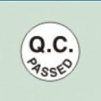 Nplabel 3000 pcs of Q.C. Passed Sign Sticker, Round Size: 15 mm, 420035
