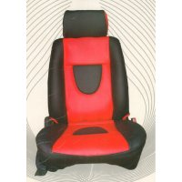 Glamour Red Rainbow Seat Cover For Manza