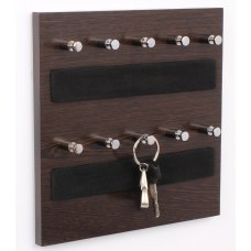 Regis 0.8 kgs Wenge Gloss Wall Mounted Key Chain Hanging Board/ Box-Skywood Wenge, RG-KH-SW-W10